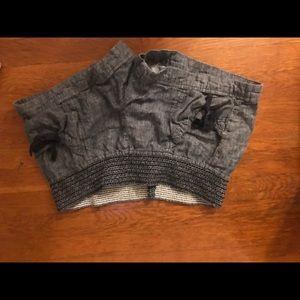 Dillard's jolt brand ruched denim style shorts sz5